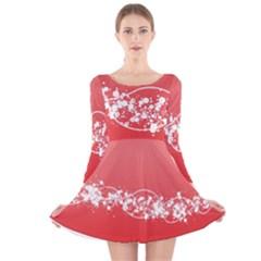 2348 Plexus Point Shine 3840x2400 Long Sleeve Velvet Skater Dress by amphoto