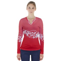 2348 Plexus Point Shine 3840x2400 V Neck Long Sleeve Top by amphoto