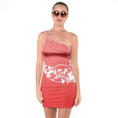 2348 Plexus Point Shine 3840x2400 One Soulder Bodycon Dress by amphoto