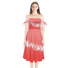 2348 Plexus Point Shine 3840x2400 Shoulder Tie Bardot Midi Dress by amphoto