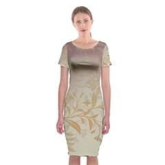 2349 Pattern Background Faded 3840x2400 Classic Short Sleeve Midi Dress by amphoto
