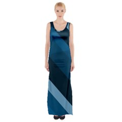 2435 Line Gray Blue 3840x2400 Maxi Thigh Split Dress by amphoto