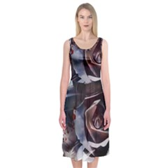 2272 Paper Paint Lines 3840x2400 Midi Sleeveless Dress by amphoto