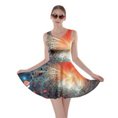 Plexus Background Colorful  Skater Dress by amphoto