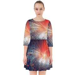 Plexus Background Colorful  Smock Dress by amphoto