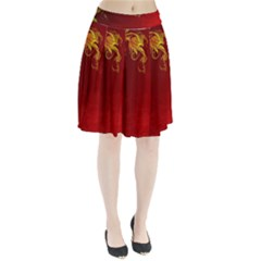 Fire Effect Background  Pleated Skirt by amphoto