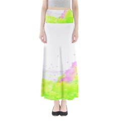 Paint Spray Field  Full Length Maxi Skirt by amphoto