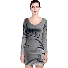 Patterns Lines Colorful  Long Sleeve Bodycon Dress by amphoto