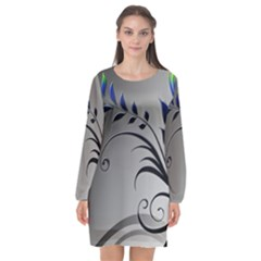 Patterns Lines Colorful  Long Sleeve Chiffon Shift Dress  by amphoto