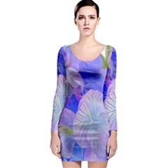 Flowers Abstract Colorful  Long Sleeve Bodycon Dress by amphoto