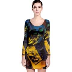Background Bright Light  Long Sleeve Bodycon Dress by amphoto