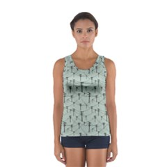 Telephone Lines Repeating Pattern Sport Tank Top