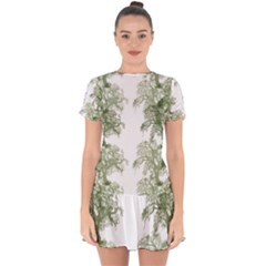 Trees Tile Horizonal Drop Hem Mini Chiffon Dress by Nexatart