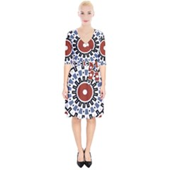 Mandala Art Ornament Pattern Wrap Up Cocktail Dress