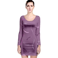 Plumelet Pen Ethnic Elegant Hippie Long Sleeve Bodycon Dress