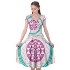 Mandala Design Arts Indian Cap Sleeve Wrap Front Dress by Nexatart