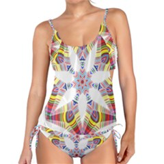 Colorful Chromatic Psychedelic Tankini Set by Nexatart