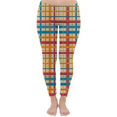 Plaid Pattern Classic Winter Leggings by linceazul