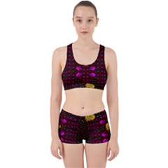 Roses In The Air For Happy Feelings Work It Out Sports Bra Set by pepitasart