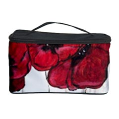 Main Street Poppies Hr Aceo Cosmetic Storage Case by artbyjacquie