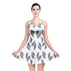 Feather Pattern Reversible Skater Dress by Valentinaart