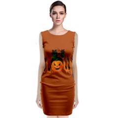 Halloween Classic Sleeveless Midi Dress by Valentinaart