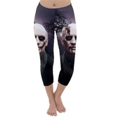 Zombie Capri Winter Leggings  by Valentinaart