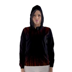 Colorful Light Ray Border Animation Loop Orange Motion Background Space Hooded Wind Breaker (women)