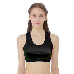 Colorful Light Ray Border Animation Loop Rainbow Motion Background Space Sports Bra With Border by Mariart