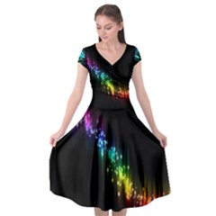 Illustration Light Space Rainbow Cap Sleeve Wrap Front Dress by Mariart