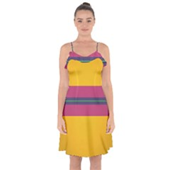 Layer Retro Colorful Transition Pack Alpha Channel Motion Line Ruffle Detail Chiffon Dress by Mariart