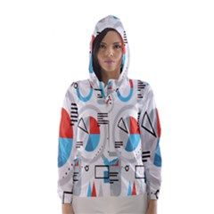 Science Mathematics Formula Hooded Wind Breaker (women) by Mariart