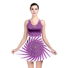 Spiral Purple Star Polka Reversible Skater Dress by Mariart