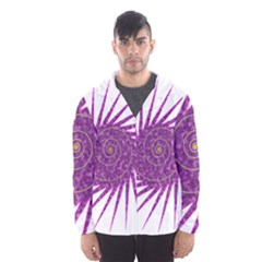 Spiral Purple Star Polka Hooded Wind Breaker (men)