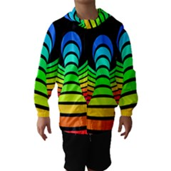 Twisted Motion Rainbow Colors Line Wave Chevron Waves Hooded Wind Breaker (kids) by Mariart