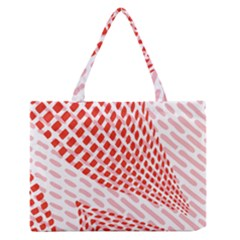 Waves Wave Learning Connection Polka Red Pink Chevron Zipper Medium Tote Bag