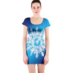 Background Christmas Star Short Sleeve Bodycon Dress by Nexatart