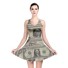 Dollar Currency Money Us Dollar Reversible Skater Dress