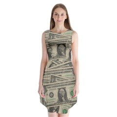 Dollar Currency Money Us Dollar Sleeveless Chiffon Dress   by Nexatart