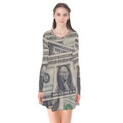 Dollar Currency Money Us Dollar Flare Dress by Nexatart