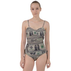 Dollar Currency Money Us Dollar Sweetheart Tankini Set