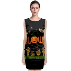 Halloween Sleeveless Velvet Midi Dress by Valentinaart