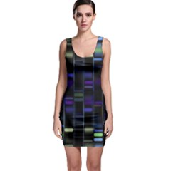 Biostatistics Line Blue Bodycon Dress by Mariart