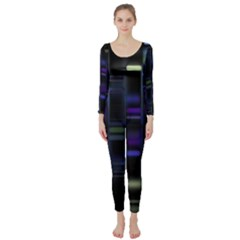 Biostatistics Line Blue Long Sleeve Catsuit by Mariart