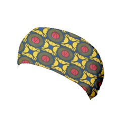 African Textiles Patterns Yoga Headband by Mariart