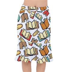Friends Library Lobby Book Sale Mermaid Skirt by Mariart