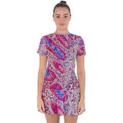 Histology Inc Histo Logistics Incorporated Alcian Blue Drop Hem Mini Chiffon Dress by Mariart