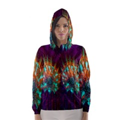 Live Green Brain Goniastrea Underwater Corals Consist Small Hooded Wind Breaker (women) by Mariart