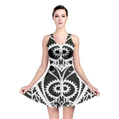 Paper Cut Butterflies Black White Reversible Skater Dress by Mariart