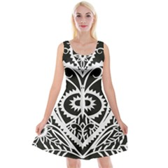 Paper Cut Butterflies Black White Reversible Velvet Sleeveless Dress by Mariart